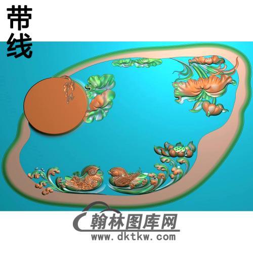 荷花精雕图(HHY-476)