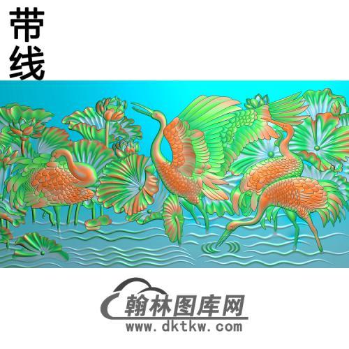 松鹤精雕图(SH-087)