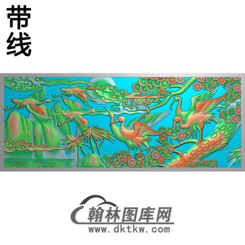 松鹤精雕图(SH-109)