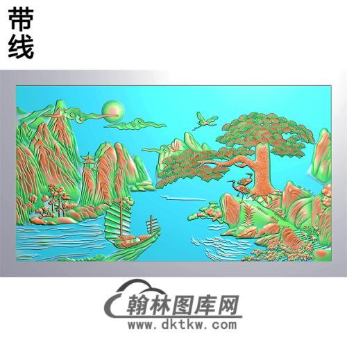 松鹤精雕图(SH-189)