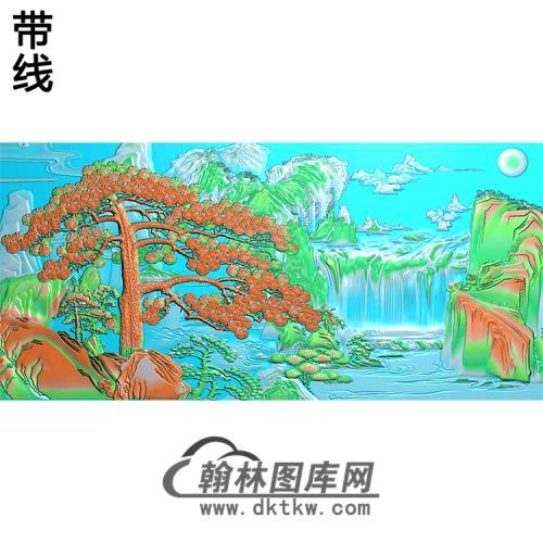 松鹤精雕图(SH-193)