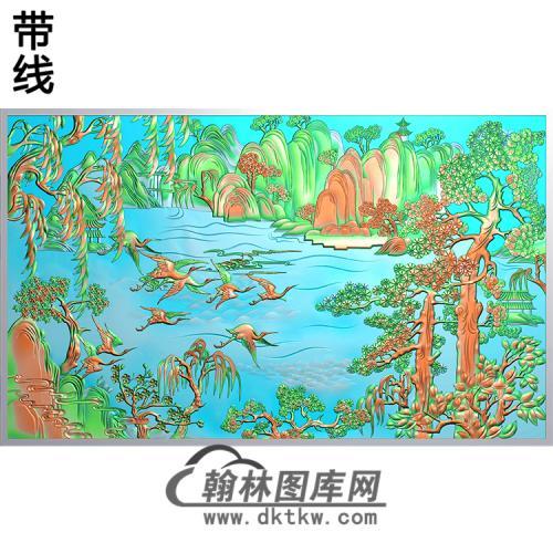 松鹤精雕图(SH-209)