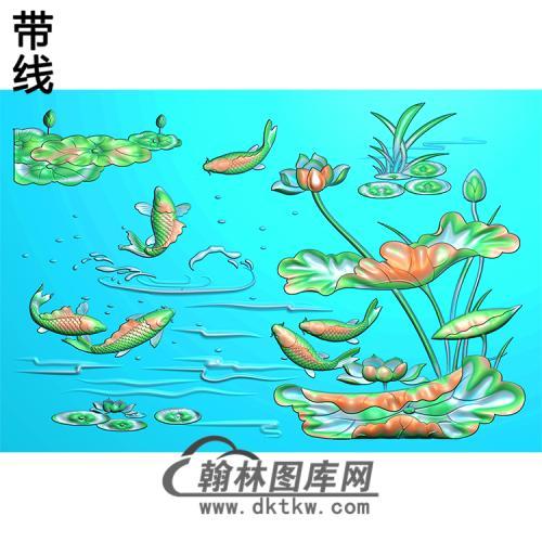 荷花精雕图(HHY-631)
