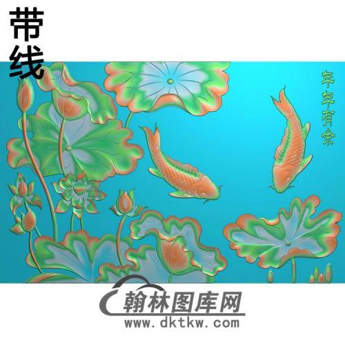 荷花精雕图(HHY-824)