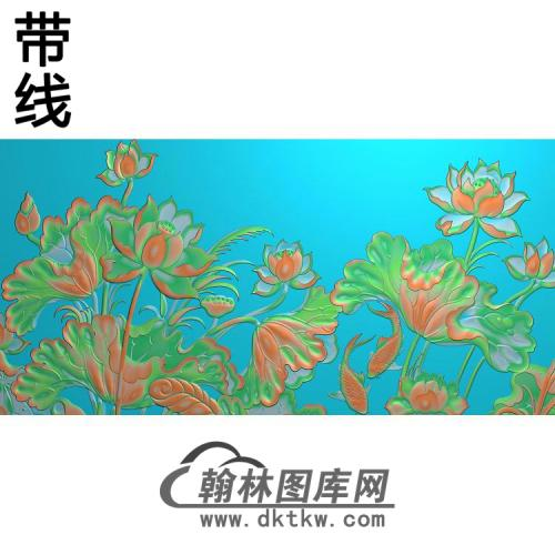 荷花精雕图(HHY-825)
