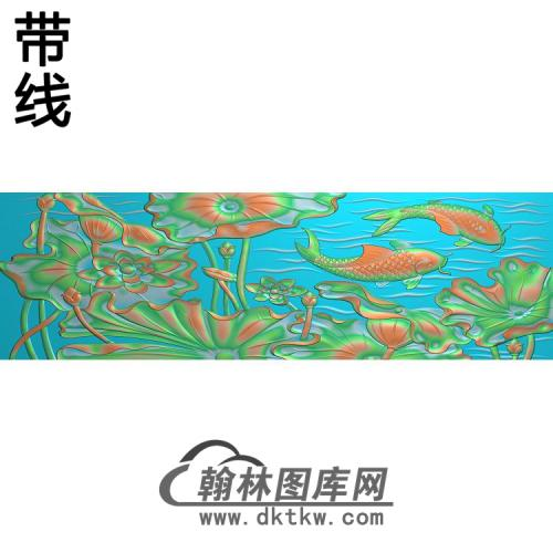 荷花精雕图(HHY-832)