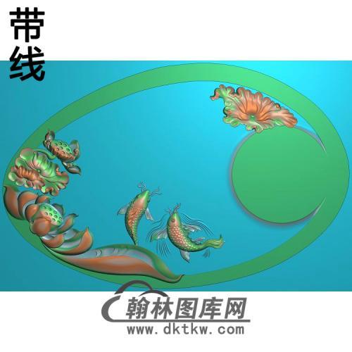 荷花精雕图(HHY-859)