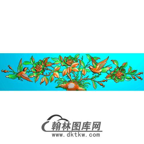 牡丹花鸟精雕图(MD-316)