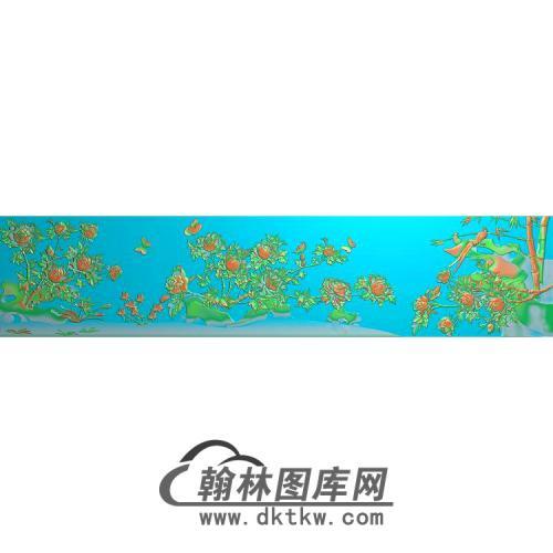 牡丹花鸟精雕图(MD-633)