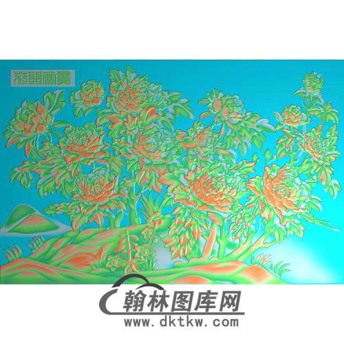牡丹花鸟精雕图(MD-865)