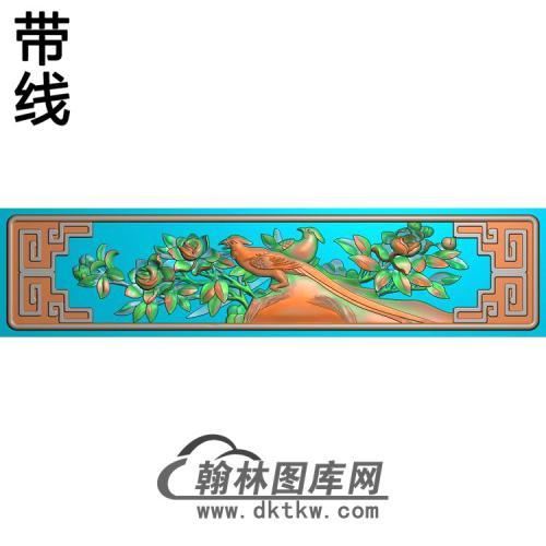 牡丹花鸟精雕图(MD-879)