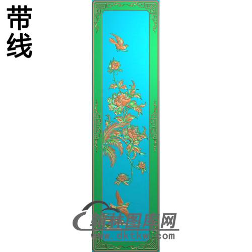 牡丹花鸟精雕图(MD-921)