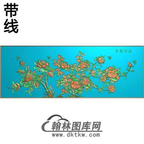 牡丹花鸟精雕图(MD-966)