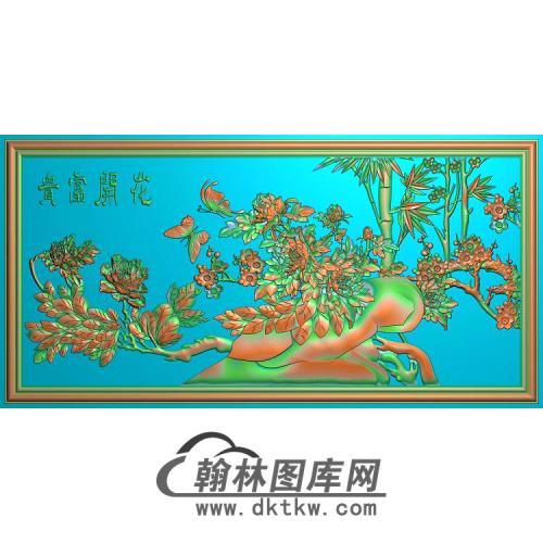 牡丹花鸟精雕图(MD-970)