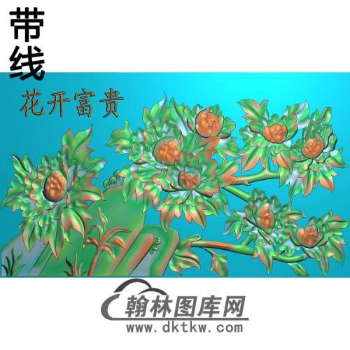 牡丹花鸟精雕图(MD-978)