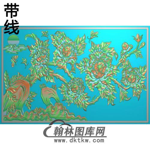 牡丹花鸟精雕图(MD-862)