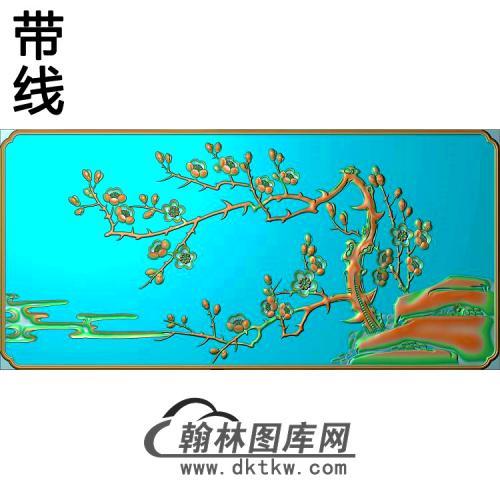 MH-3114-四季平安梅花精雕图(MH-199)