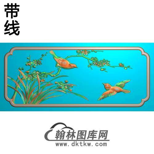 梅花喜鹊精雕图(MH-314)