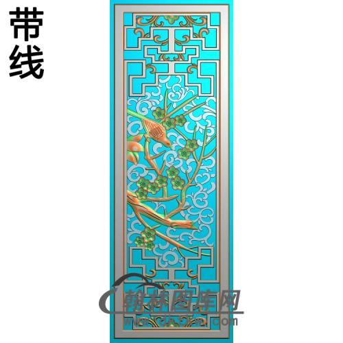 屏风梅花3精雕图(MH-359)