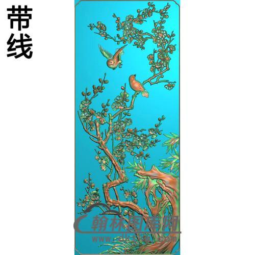 四季花梅精雕图(MH-366)