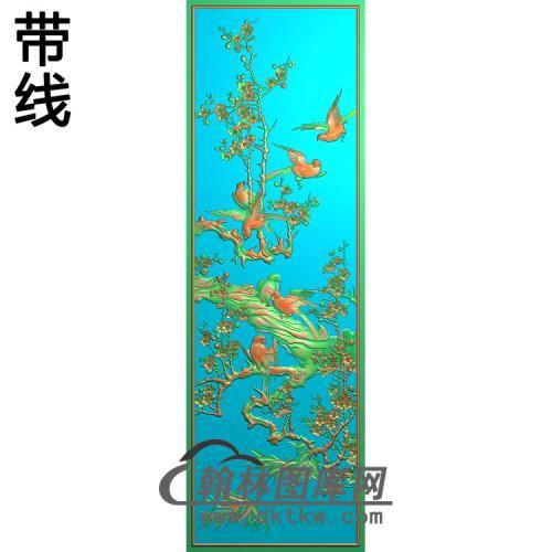 温州中门板梅花原板精雕图(MH-367)