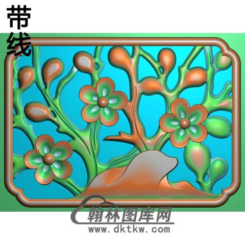 小门板梅花精雕图(MH-371)