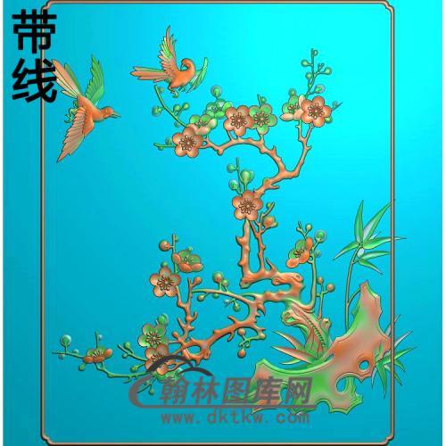 小门梅花1精雕图(MH-372)