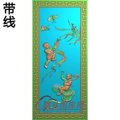 大号奔驰沙发靠背板兰花铜钱19.5-41.5无线精雕图(LH-111)