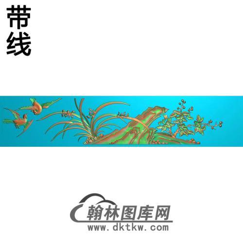 大兰花板抽屉精雕图(LH-113)