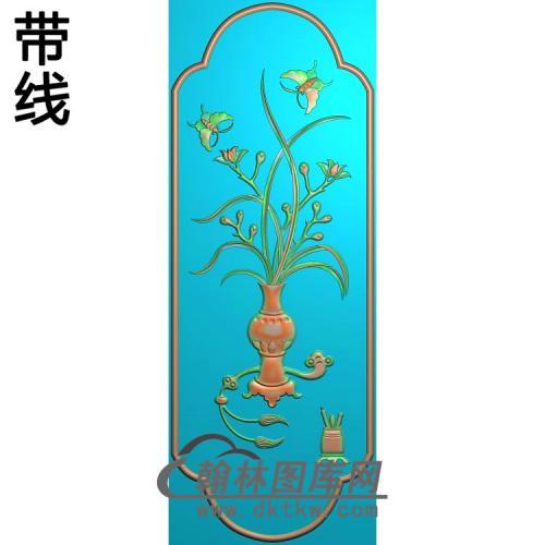 大衣柜兰花(223x608)精雕图(LH-114)