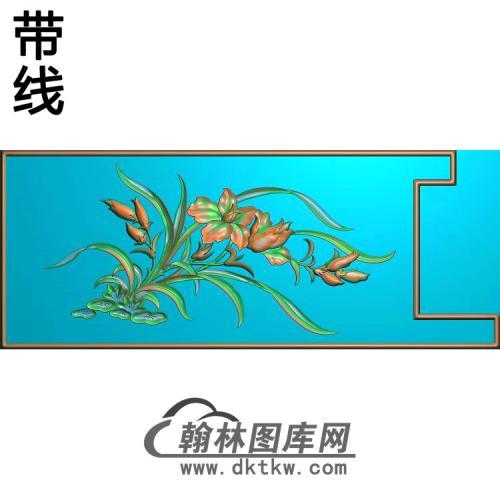扶手兰花精雕图(LH-117)
