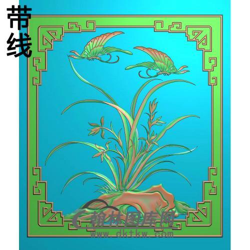 兰花343-390精雕图(LH-122)