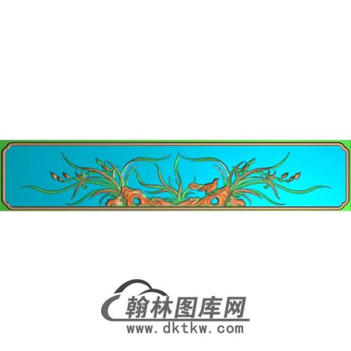 兰花抽面无线精雕图(LH-124)