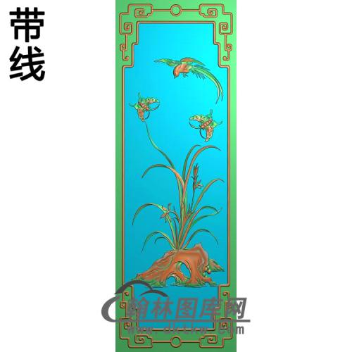 兰花鸟1226精雕图(LH-127)