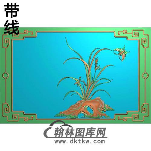 兰花鸟537347精雕图(LH-128)