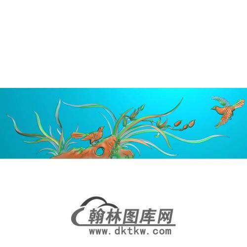 兰花鸟无线精雕图(LH-129)