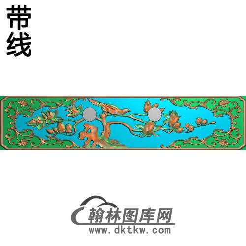 兰花小抽斗精雕图(LH-130)
