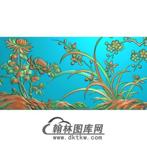 梅兰竹精雕图(LH-147)