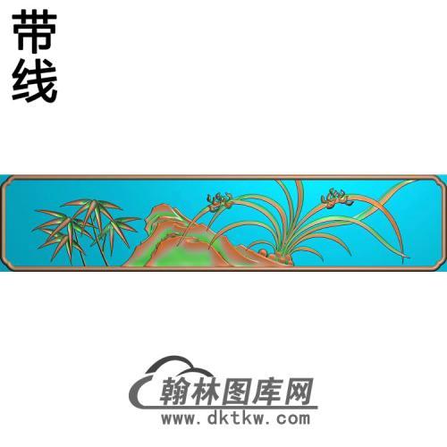 小兰花板抽屉精雕图(LH-151)