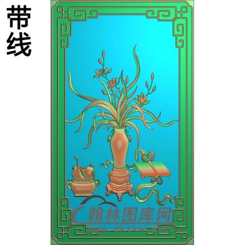 小门板兰花精雕图(LH-152)