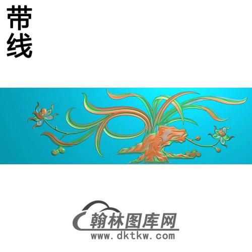 衣柜抽斗兰花精雕图(LH-153)