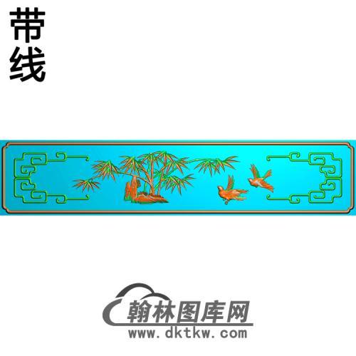 ZZ-002-大台前上小板竹402x82精雕图(ZZ-158)