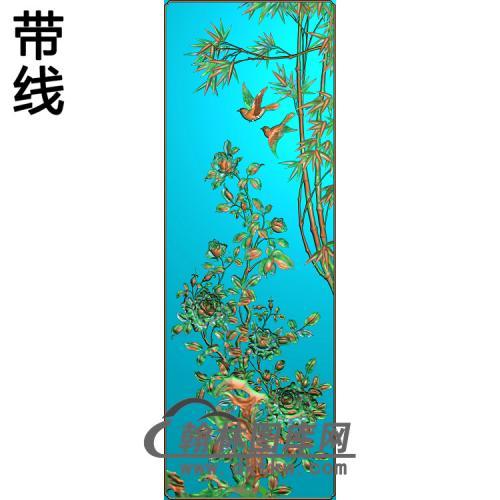 ZZ-006-月季竹子0316--02精雕图(ZZ-167)