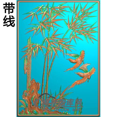 鸟竹精雕图(ZZ-280)