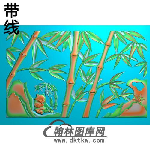 熊猫竹子精雕图(ZZ-285)