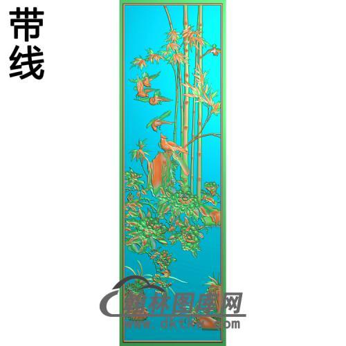 中门竹子 (2)精雕图(ZZ-288)