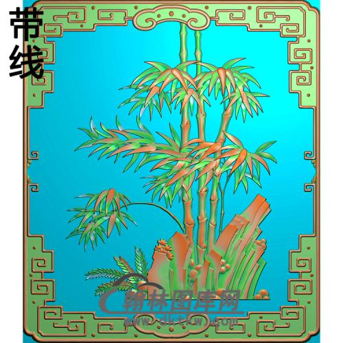 竹子 (2)精雕图(ZZ-291)