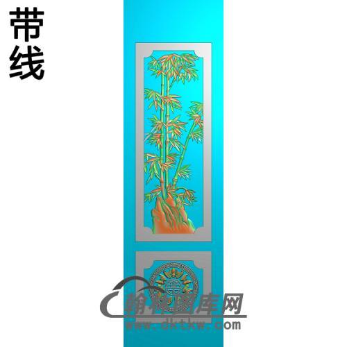 竹子 蝙蝠精雕图(ZZ-299)