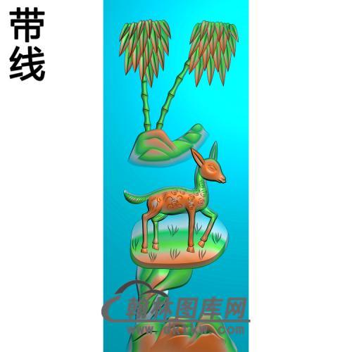 竹子 鹿精雕图(ZZ-300)