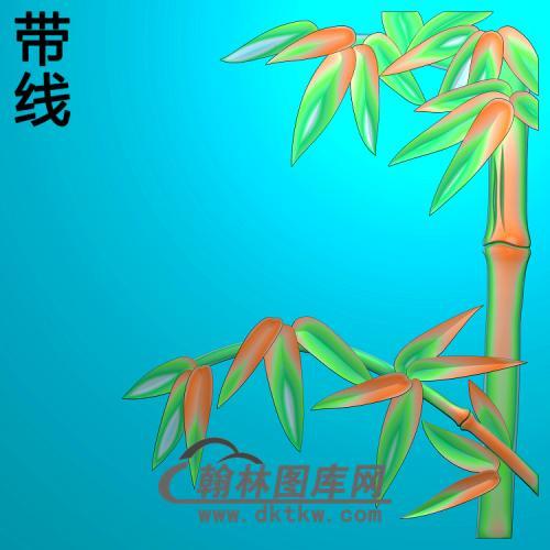 竹子900x900x10精雕图(ZZ-306)